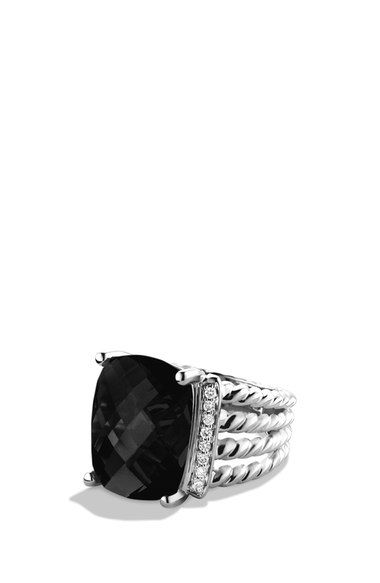 David Yurman 'Wheaton' Ring with Semiprecious Stone & Diamonds available at #Nordstrom