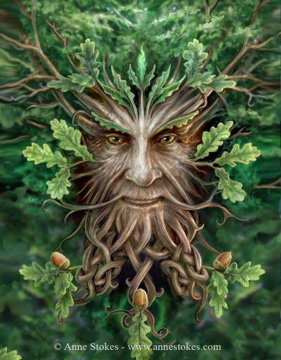 The Oak King by Anne Stokes