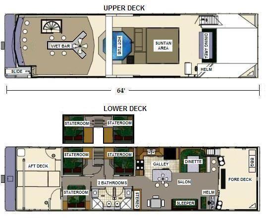 Houseboat Floor Plans 8X25 Floor Plans House plans Pinterest