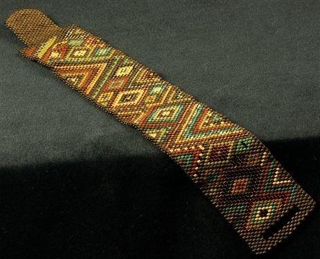 Indian Corn peyote stitched bracelet