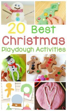 20 Best Christmas Play Dough Activities and Ideas