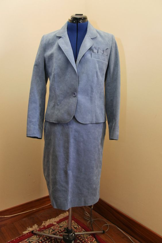 Beautiful Vintage Lilli Ann Adolph Schuman Ultrasuede Dress Suit - pinned by pin4etsy.com