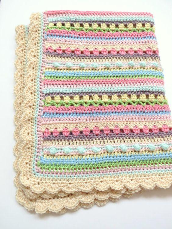Crochet beb manta patr n patr n de la manta de beb - Patrones de mantas a crochet ...