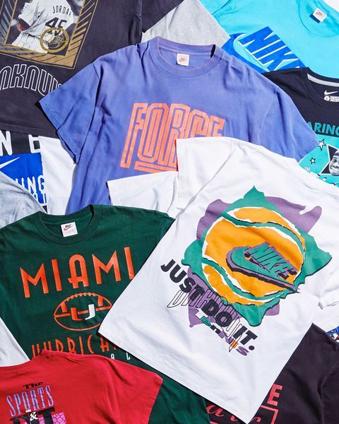 Unknwn S New Vintage Nike T Shirt Drop Is The Perfect Cap On The Summer Of Sleaze Clothing Footwea Vintage Sportswear Retro Sportswear Vintage Shirt Design
