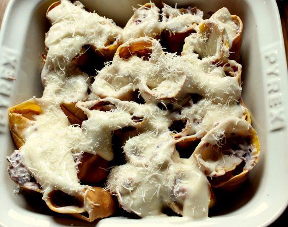 Rotolini di crèpes alla zucca e gorgonzola