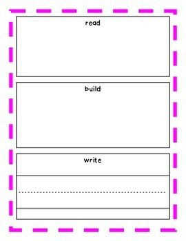 Read, Build, Write Word Work Mat #tpt #whalecometo2ndgrade