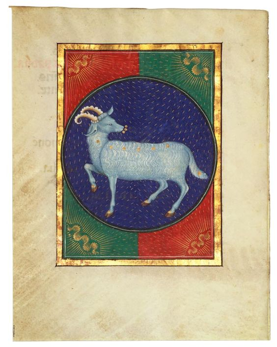 Book of Hours Zodiac Signs - Aries - The Morgan Library & Museum - Collections: