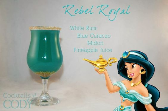 Princess Jasmine Disney Cocktail