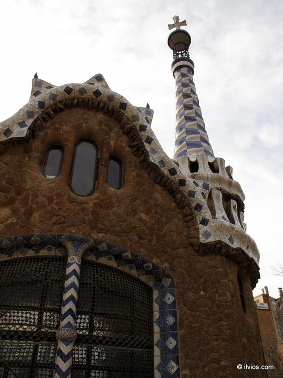 Entering Park Guell - Barcelona, Spain.