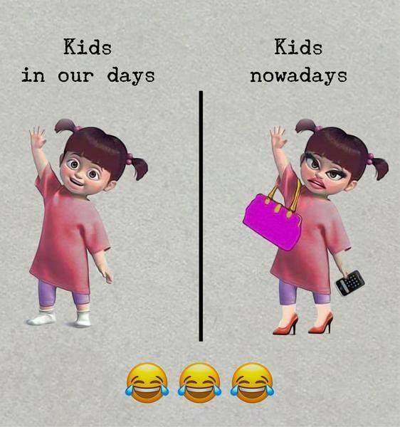 Kids In Our Days Vs Kids Nowadays Website Nicerhealth Com Kids Nowadays Funny Memes Cute Memes