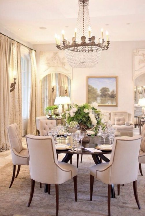 Elegant Dining Room Pictures Dining Room With Round Table And