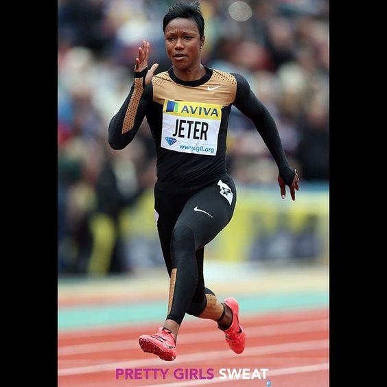 American sprinter, Carmelita Jeter (@jetg5), always works her hardest to reach…