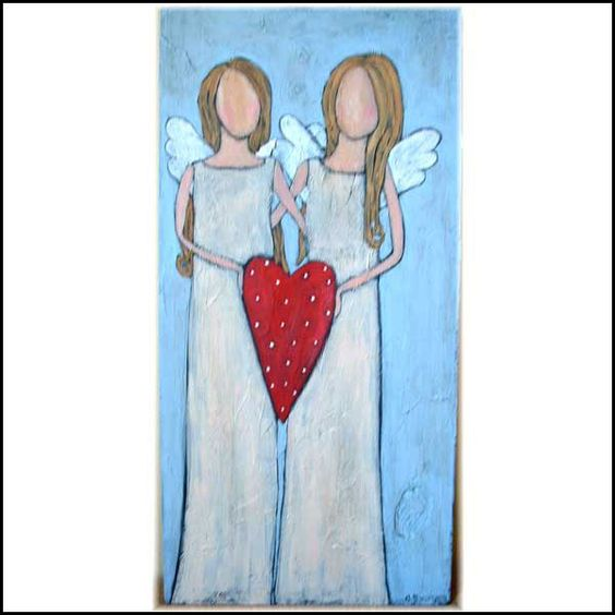 Cynthia Fortner Angels in White Original Painting