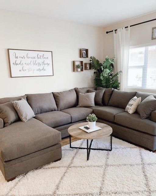 Kerri Charcoal 2 Piece Sectional With Left Arm Facing Chaise Apartment Living Room Farm House Living Room Modern Farmhouse Living Room