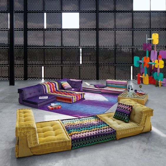 composizione missoni home mah jong roche bobois arredi. Black Bedroom Furniture Sets. Home Design Ideas