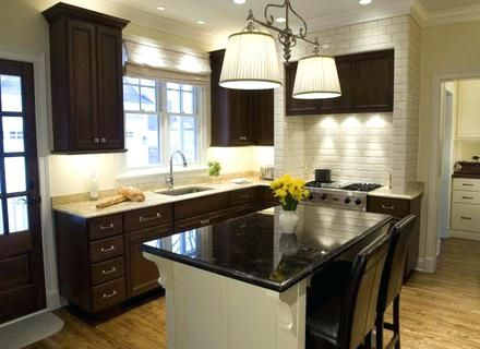 Best Paint Color For Kitchen With Dark Cabinets In 2020 Kitchen Paint Colors Kitchen Colors Black Kitchen Cabinets Small Kitchen