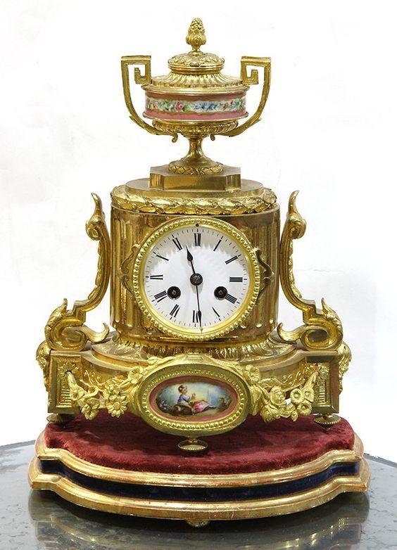 Louis XV style gilt bronze and porcelain mantle clock. #AntiqueClocks #victorian #Clocks #Antique #mechanical #gosstudio  .  ★ We recommend Gift Shop: http://www.zazzle.com/vintagestylestudio ★