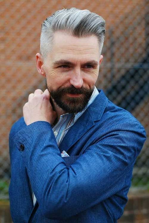 36 Amazing Hairstyle With Beard For Men Over 40 Years Older Mens Hairstyles Old Man Haircut Older Men Haircuts