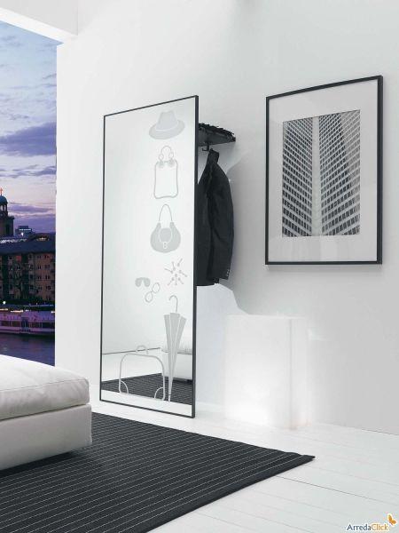 Specchio ingresso appendiabiti decorato rimpiattino - Ikea catalogo specchi ...