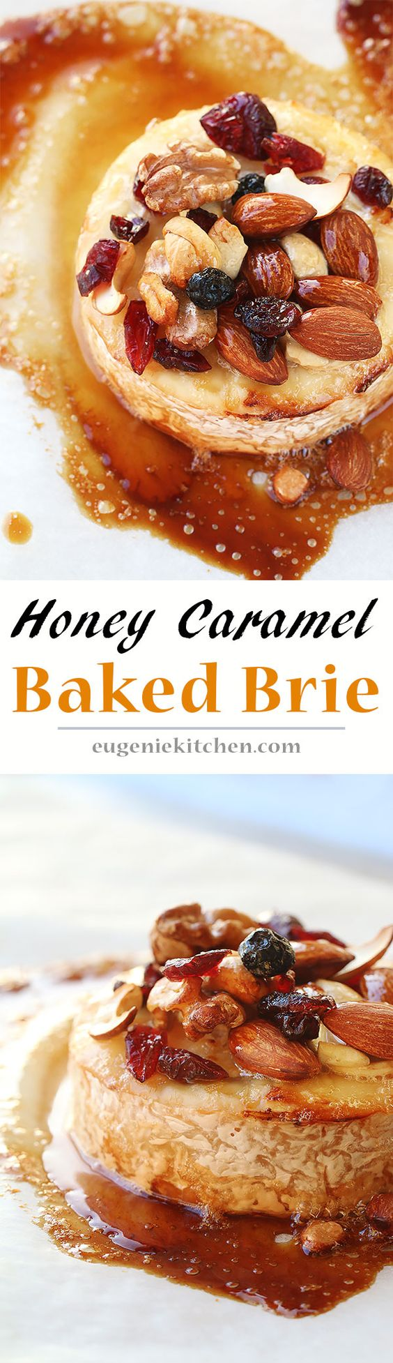 Easy, yet fancy. Ready in 20 minutes. This delicious baked Brie caramelized with honey recipe is a perfect cheese appetizer for any occasion!