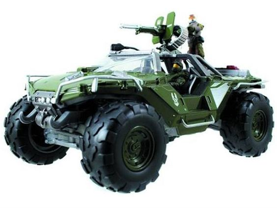 """Halo 4 Die-Cast Warthog with 2"""" Figure By Jada Toys"""
