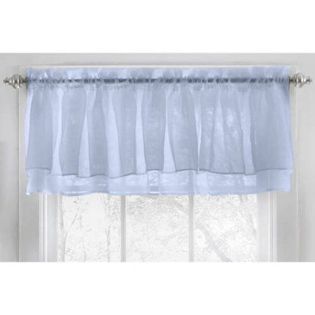 Kitchen Curtains 36 inch kitchen curtains : Voile Vertical Ruffle Window Kitchen Curtain 24 inch, 36 inch ...