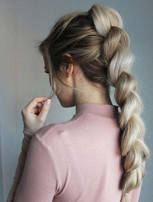 Teenage Hairstyles For School Unique Prettiest Pull Through Braided Hairstyles For Teenage Girls In 2020 Teenage Hairstyles Braided Hairstyles Easy Braided Hairstyles