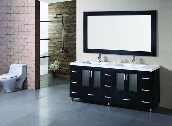 Stanton 72 Double Sink Vanity Set in Espresso