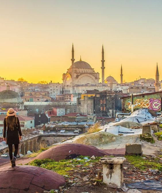 istanbul rooftop sunrise solo female travel turkey