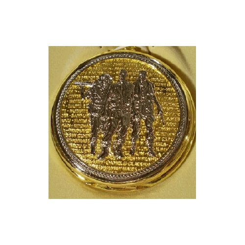 Today in 1968 The Pentagon announced that troops would begin coming home from Vietnam. In this photo is a pocket watch of the Vietnam Memorial. It comes in a gift box.