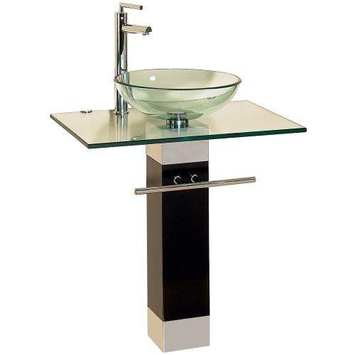 23 Inch Modern Bathroom Vanities Tempred Glass Design Vessel Sink ...