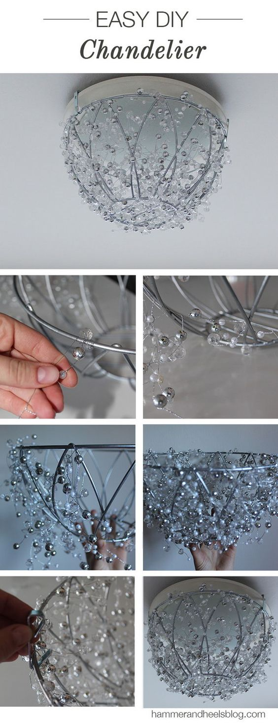 Fantastic diy chandelier tutorials and ideas for for How to make your own chandelier