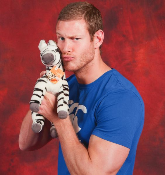 """lizzielass: """" Bartholomew the Zebra visits Camelot and meets Sir Percival (Tom Hopper) from 'Merlin'!! """""""