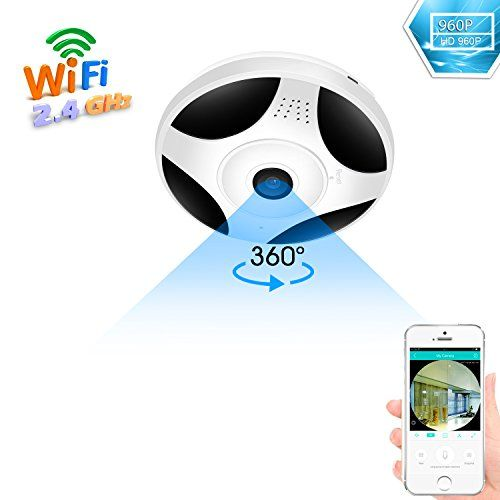 Besder 360 Degree Panoramic Wifi Camera Hd 960p Security Camera Baby Monitor Home Camera Pet Monitor Two Way Audio Video Camera Remote Viewing Night Vision Moti Wireless Home Security Systems Pet