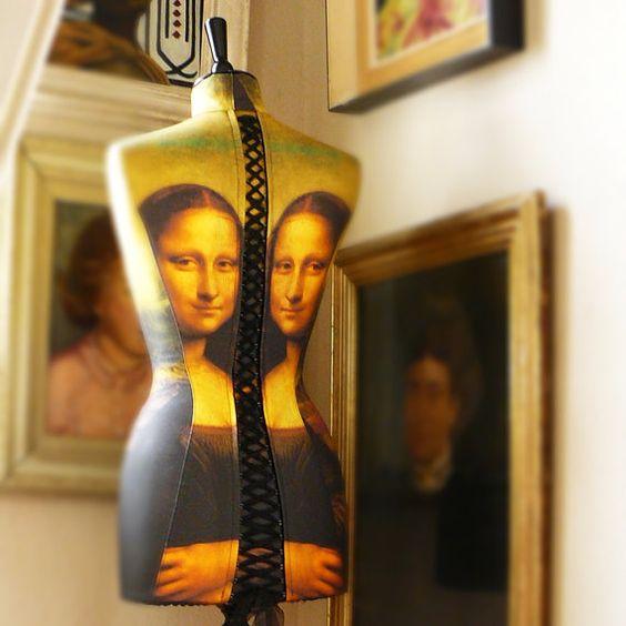 Kunst zugeschnitten Mona Lisa Portrait von CorsetLacedMannequin