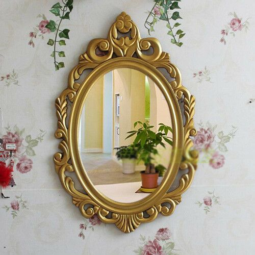 D20 Retro Gold Bathroom Toilet Vanity Wall Makeup Mirror Front Waterproof Y Fashion Home Garden Homedcor Gold Bathroom Toilet Vanity Bathroom Ornaments