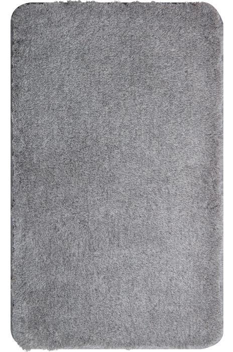 Der flauschige Badteppich Lex in silber hat eine Florhöhe von 32 mm und ist aus Polyacryl ultrasoft. Der Teppich ist waschbar bei 40°C und geeignet für Fußbodenheizung. Die Rückseite ist rutschhemmend beschichtet. Außerdem ist der Badvorleger schnelltrocknend und so auch nach dem Waschen schnell wieder einsatzbereit.