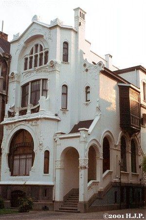A home built by Horta, 1900, Antwerp, Belgium