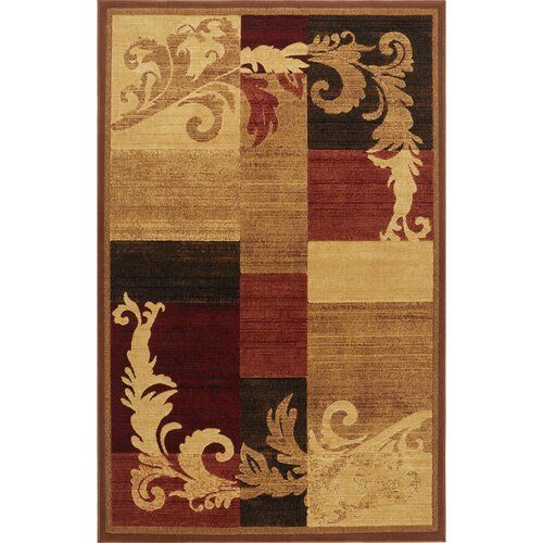 Esqueda Power Loom Brown Red Rug Rugs On Carpet Brown Area Rugs Area Rugs
