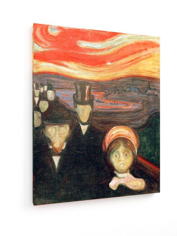 Edvard Munch - Fear - 1894 #Edvard #Munch #weewado #edvard #munch #Art #Nouveau #psychology