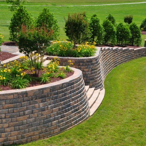 Most Beautiful Retaining Wall Ideas For Garden Landscape Cheapest Retaining Wall To Build 500x500 Sloped Garden Landscaping Retaining Walls Garden Design