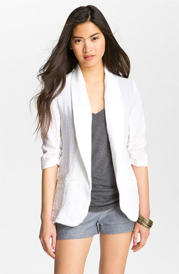 Necessary Objects Crinkle Blazer (Juniors) available at #Nordstrom ...