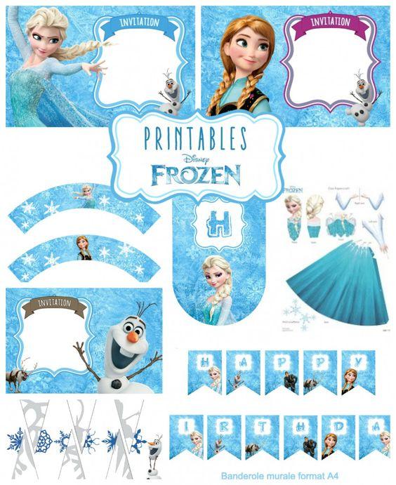 kit anniversaire reine des neiges printables frozen frozen party pinterest invitations. Black Bedroom Furniture Sets. Home Design Ideas