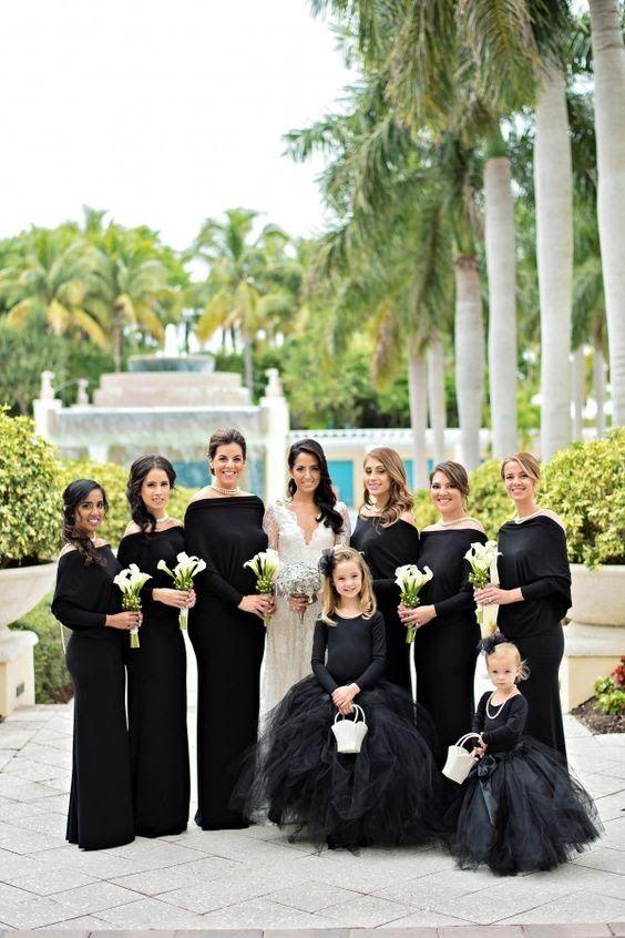 Madrinha pode usar vestido preto? Madrinhas de Casamento