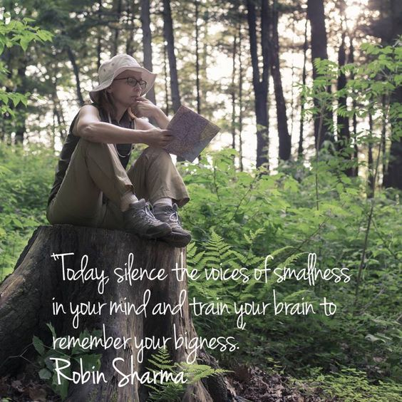 Today, silence the voices of smallness in your mind and train your brain to remember your bigness. Robin Sharma