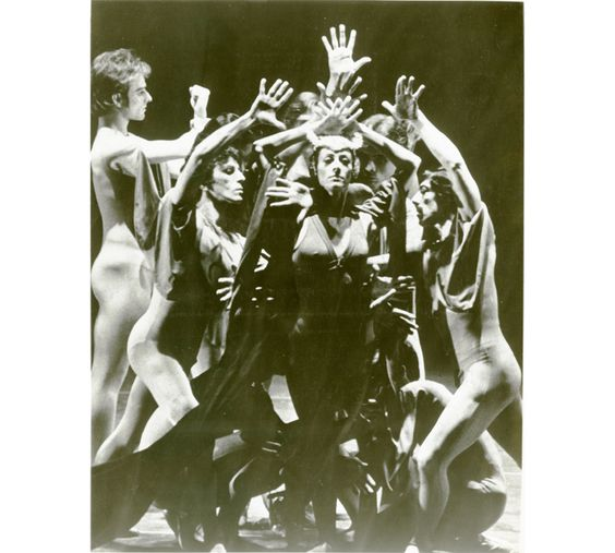 Elaine Bauer and Boston Ballet in Lorenzo Monreal's Hamlet, 1975 - Photograph by Ron Montbleau - Boston Ballet Archives