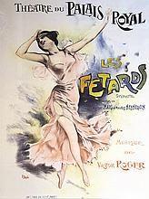 PAL Les Fêtards Théatre du Palais Royal affiche encadrée     vers 1900