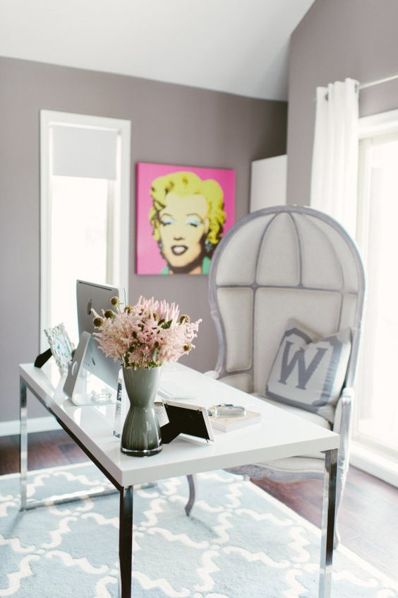 Designer digs: http://www.stylemepretty.com/living/2015/09/18/a-designers-chic-home-office/ | Photography: Renee Hollingshead - http://www.reneehollingshead.com/