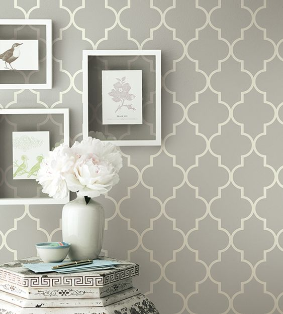 Grey contemporary geometric wallpaper   Simplicity Two Wallpaper by Brian Yates   Jane Clayton