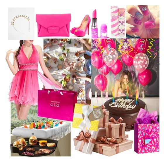 """BIRTHDAY CONTEST #birthdaygirl"" by maria-notte ❤ liked on Polyvore featuring We Take the Cake, Improvements, WithChic, Lime Crime, Aquolina, Givenchy, Emile Henry and Sugar Paper"